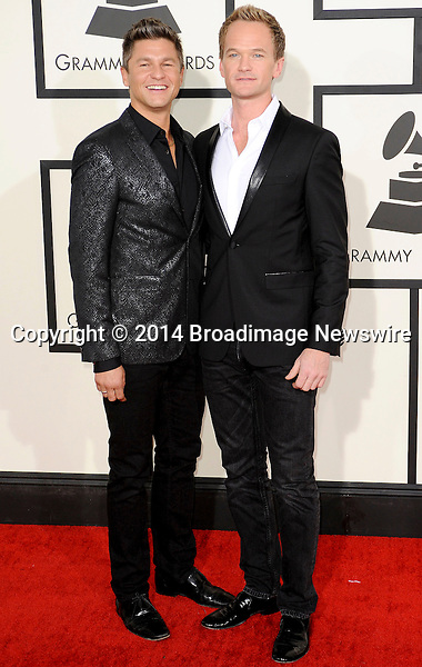 Pictured: Neil Patrick Harris, David Burtka<br /> Mandatory Credit &copy; Adhemar Sburlati/Broadimage<br /> The Grammy Awards  2014 - Arrivals<br /> <br /> 1/26/14, Los Angeles, California, United States of America<br /> <br /> Broadimage Newswire<br /> Los Angeles 1+  (310) 301-1027<br /> New York      1+  (646) 827-9134<br /> sales@broadimage.com<br /> http://www.broadimage.com