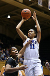 07 January 2016: Duke's Azura Stevens (11). The Duke University Blue Devils hosted the Wake Forest University Demon Deacons at Cameron Indoor Stadium in Durham, North Carolina in a 2015-16 NCAA Division I Women's Basketball game. Duke won the game 95-68.