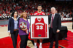 Wisconsin Badgers senior Rob Wilson with his mother and coach Bo Ryan during a Big Ten Conference NCAA college basketball game against the Illinois Fighting Illini on Sunday, March 4, 2012 in Madison, Wisconsin. The Badgers won 70-56. (Photo by David Stluka)