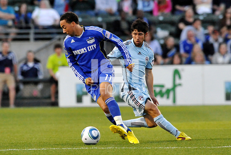 Ryan Smith #11, Kosuke Kimura...Kansas City Wizards defeated Colorado Rapids 1-0 at Community America Ballpark, Kansas City, Kansas.