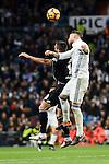 Real Madrid Sergio Ramos and Deportivo de la Coruña Florin Andone during La Liga match between Real Madrid and Deportivo de la Coruña at Santiago Bernabeu Stadium in Madrid, Spain. December 10, 2016. (ALTERPHOTOS/BorjaB.Hojas)