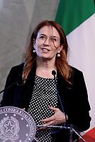 Roma,14 Marzo 2017<br /> Monica Maggioni Presidente RAI<br /> Presentazione della 25ma edizione delle 'Giornate Fai di Primavera' a Palazzo Chigi
