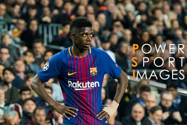 Ousmane Dembele of FC Barcelona looks on during the UEFA Champions League 2017-18 Round of 16 (2nd leg) match between FC Barcelona and Chelsea FC at Camp Nou on 14 March 2018 in Barcelona, Spain. Photo by Vicens Gimenez / Power Sport Images