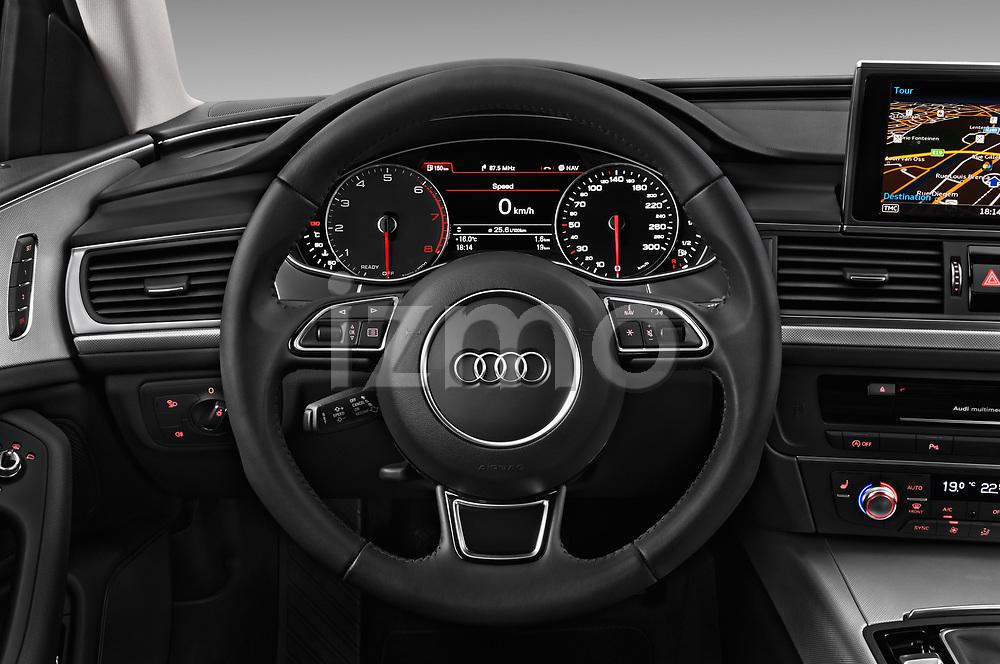 Car pictures of steering wheel view of a 2018 Audi A6 Base 4 Door Sedan