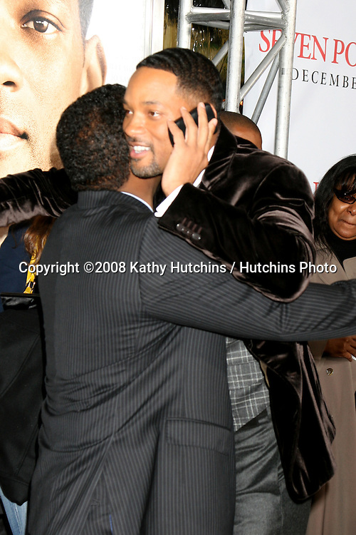 "Alfonso Ribeiro & Will Smith arriving at the Premiere of ""Seven Pounds"" at the Mann's Village Theater in Westwood, CA on December 15, 2008.©2008 Kathy Hutchins / Hutchins Photo..                ."