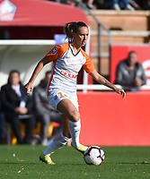 20181027 - CAMPHIN-EN-PEVELE , FRANCE : Montpellier's Virginia Torrecilla Reyes pictured during the 8 th competition game between the women teams of Lille OSC and Montpellier Herault Sporting Club in the 2018-2019 season of the first Division - Ligue 1 at Domaine de Luchin , Saturday 27th Octobre 2018 ,  PHOTO Dirk Vuylsteke | Sportpix.Be