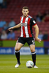 Jack O'Connell of Sheffield Utd during the Carabao Cup, second round match at Bramall Lane, Sheffield. Picture date 22nd August 2017. Picture credit should read: Simon Bellis/Sportimage