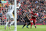 Liverpool's Sadio Mane sees his shot saved by Crystal Palace's Wayne Hennessey during the premier league match at the Anfield Stadium, Liverpool. Picture date 19th August 2017. Picture credit should read: David Klein/Sportimage