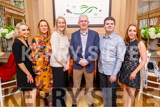 Jessica Cronin, Maud Dowd, Susan Kelly, Mark Sullivan, Daniel Griffin and Orla Greaney staff of the Rose Hotel enjoying their party in the Ballygarry House Hotel on Sunday.