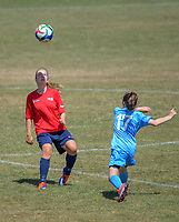 Action from the New Zealand Age Group Championships Under-16 Girls match between WaiBoP (red tops) and Southern at Memorial Park in Petone, Wellington, New Zealand on Thursday, 14 December 2017. Photo: Dave Lintott / lintottphoto.co.nz