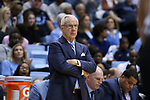 CHAPEL HILL, NC - DECEMBER 30: UNC head coach Roy Williams. The University of North Carolina Tar Heels hosted the Wake Forest University Demon Deacons on December 30, 2017 at Dean E. Smith Center in Chapel Hill, NC in a Division I men's college basketball game. UNC won the game 73-69.