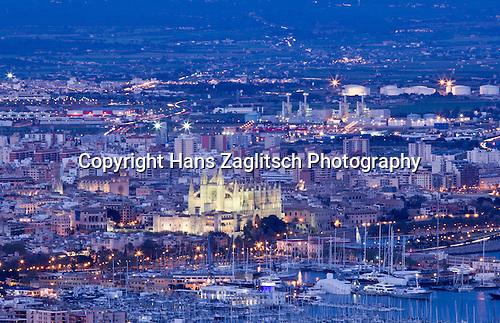 Kathedrale La Seu und Hafen, Palma de Mallorca