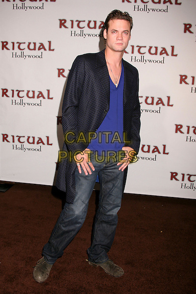 SHANE WEST.Ritual Nightclub & Restaurant Grand Opening Party, Hollywood, California, USA..July 17th, 2007.full length jeans denim blue black shirt jacket long .CAP/ADM/BP.©Byron Purvis/AdMedia/Capital Pictures