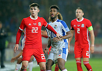 (L-R) Ben Woodburn of Wales and Ricardo Avila of Panama during the international friendly soccer match between Wales and Panama at Cardiff City Stadium, Cardiff, Wales, UK. Tuesday 14 November 2017.