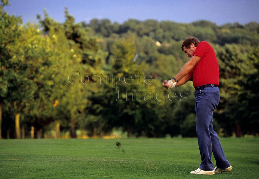 Golfer on a golf course
