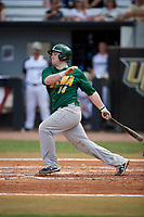 Siena Saints third baseman Brian Kelly (14) bats during a game against the UCF Knights on February 17, 2019 at John Euliano Park in Orlando, Florida.  UCF defeated Siena 7-1.  (Mike Janes/Four Seam Images)