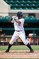 Detroit Tigers Jimmy Mojica (52) at bat during a Florida Instructional League game against the Pittsburgh Pirates on October 6, 2018 at Joker Marchant Stadium in Lakeland, Florida.  (Mike Janes/Four Seam Images)