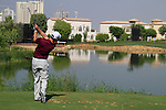 Paul Casey tees off on the par3 6th tee during Day 1 of the Dubai World Championship, Earth Course, Jumeirah Golf Estates, Dubai, 25th November 2010..(Picture Eoin Clarke/www.golffile.ie)