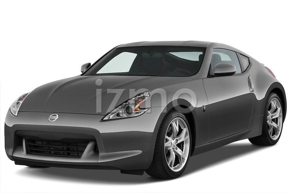 Front three quarter view of a 2009 Nissan 370 Z Touring Coupe.