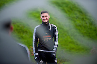 Wednesday  06 January 2016<br /> Pictured: Matt Grimes of Swansea<br /> Re: Swansea City Training session at the Fairwood training ground, Swansea, Wales, UK