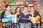 WORK TIME: Taking a break from the Job Shadow Initiative at Champs Supermarket Killorglin on Thursday  last were Julie Golden (Champs Supermarket), Caroline Griffin (Job Coach with St. John of God, Kerry Services), BJ Breen (Killorglin) and Margaret Relihan (Manager of Champs Supermarket).   Copyright Kerry's Eye 2008