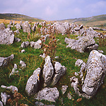 AJEM74 Limestone pavement and scar Yorkshire Dales national park England