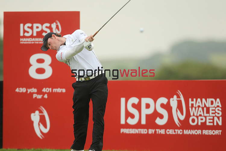 Tim Sluiter drives at the 8th during the 2nd round of the ISPS Handa Wales Open 2012...01.06.12.©Steve Pope