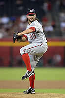 Washington Nationals pitcher Tanner Roark (59) during a game against the Arizona Diamondbacks at Chase Field on September 29, 2013 in Phoenix, Arizona.  Arizona defeated Washington 3-2.  (Mike Janes/Four Seam Images)