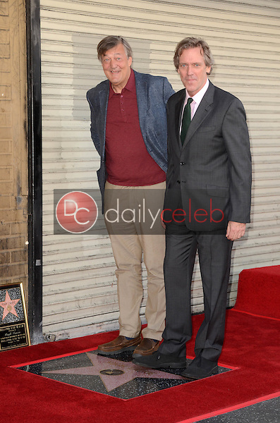 Stephen Fry, Hugh Laurie<br /> at the Hugh Laurie Star on the Hollywood Walk of Fame Ceremony, Hollywood, CA 10-25-16<br /> David Edwards/DailyCeleb.com 818-249-4998