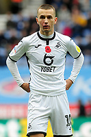 Bersant Celina of Swansea City in action during the Sky Bet Championship match between Wigan Athletic and Swansea City at The DW Stadium in Wigan, England, UK. Saturday 2 November 2019