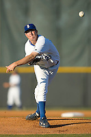 Starting pitcher John Flanagan (28) of the Burlington Royals in action at Burlington Athletic Park in Burlington, NC, Monday August 11, 2008. (Photo by Brian Westerholt / Four Seam Images)