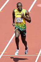 Usain Bolt Jamaica.London 04/08/2012 .London 2012 Olympic games  - Men s 100m Heat of Athletics - Olimpiadi Londra 2012 - 100m Uomini Atletica.Olympic Stadium.Foto JB Autissier / Panoramic / Insidefoto.ITALY ONLY..