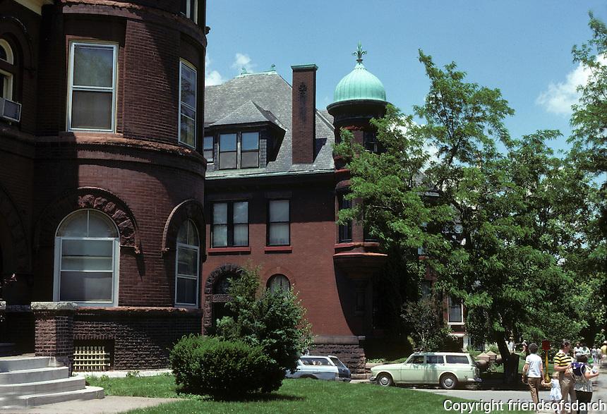 St. Louis: Missouri Ave.  Romanesque Houses. Photo '78.