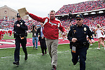 Wisconsin Badgers head coach Bret Bielema runs off the field after an NCAA college football game against the Austin Peay Governors on September 25, 2010 at Camp Randall Stadium in Madison, Wisconsin. The Badgers beat the Governors 70-3. (Photo by David Stluka)