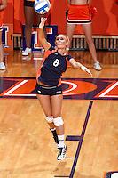 SAN ANTONIO , TX - NOVEMBER 14, 2009: The University of Texas at Arlington Mavericks vs. The University of Texas At San Antonio Roadrunners Women's Volleyball at the UTSA Convocation Center. (Photo by Jeff Huehn)