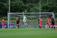 Laura O'Sullivan of Wales Women's' in action during the Women's International Friendly match between Wales and New Zealand at the Cardiff International Sports Stadium in Cardiff, Wales, UK. Tuesday 04 June, 2019