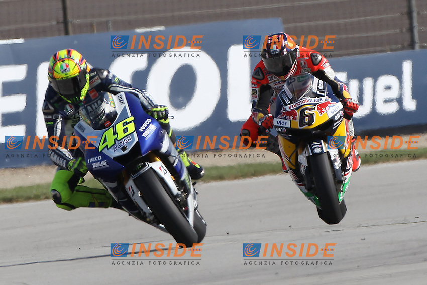 17-08-2013 Indianapolis (USA)<br /> Motogp world championship<br /> in the picture: Valentino Rossi - Yamaha factory team and Stefan Bradl - LCR Honda team<br /> Foto Semedia / Insidefoto