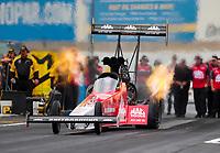 Sep 13, 2019; Mohnton, PA, USA; NHRA top fuel driver Doug Kalitta during qualifying for the Keystone Nationals at Maple Grove Raceway. Mandatory Credit: Mark J. Rebilas-USA TODAY Sports
