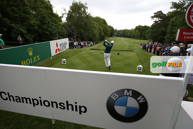 Branden Grace (RSA) drives down the 17th during Round Three of the 2015 BMW PGA Championship over the West Course at Wentworth, Virginia Water, London. 23/05/2015. Picture David Lloyd | www.golffile.ie.