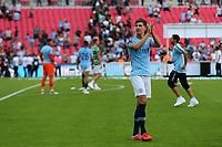 John Stones applauds the Manchester City fans at the end of the match during Chelsea vs Manchester City, FA Community Shield Football at Wembley Stadium on 5th August 2018