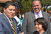 Superintendent Richard Carranza joins the Northside Safe Walk at Marshall Middle School and tours the fine arts wing of the school.