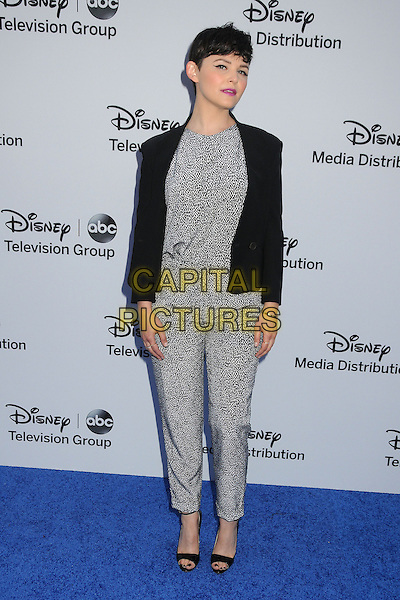 Ginnifer Goodwin.Disney Media Networks International Upfronts 2013 held at Walt Disney Studios, Burbank, California, USA..May 19th, 2013.full length black blazer grey gray white pattern jumpsuit.CAP/ADM/BP.©Byron Purvis/AdMedia/Capital Pictures