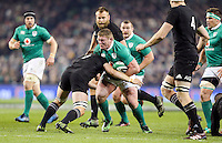 19th November 2016 | IRELAND vs NEW ZEALAND<br /> <br /> Tadhg Furlong is tackled by Sam Cane during the Autumn Series International clash between Ireland and New Zealand at the Aviva Stadium, Lansdowne Road, Dublin,  Ireland. Photo by John Dickson/DICKSONDIGITAL