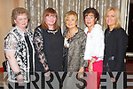 Pictured at the Lee Strand Social on Saturday night held In Ballygarry House Hotel and Spa were l-r: Mary Griffin (Tralee) Joan Kelly (Lixnaw) Liz Lawlor (Tralee) Elaine Foley (Tralee) and Chrissie Kelly (Tralee).