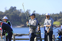 Jordan Spieth (USA) tees off the 7th tee at Pebble Beach Golf Links during Saturday's Round 3 of the 2017 AT&amp;T Pebble Beach Pro-Am held over 3 courses, Pebble Beach, Spyglass Hill and Monterey Penninsula Country Club, Monterey, California, USA. 11th February 2017.<br /> Picture: Eoin Clarke | Golffile<br /> <br /> <br /> All photos usage must carry mandatory copyright credit (&copy; Golffile | Eoin Clarke)