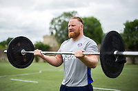 Ross Batty of Bath Rugby in action during a Bath Rugby photoshoot on June 21, 2016 at Farleigh House in Bath, England. Photo by: Patrick Khachfe / Onside Images