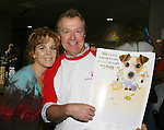 "Guiding Light's Liz Keifer and Jerry verDorn ""Blake and Ross Marler"" (and OLTL's Clint Buchanan) at the ""Bloss"" Bowling Event during the Guiding Light weekend on October 15, 2005 at the Port Authority, NY (Photo by Sue Coflin)"