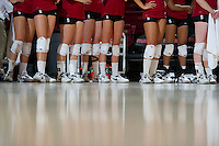 STANFORD, CA - September 2, 2010: Team during a volleyball match against UC Irvine in Stanford, California. Stanford won 3-0.