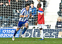 KILMARNOCK'S MANUEL PASCALI CELEBRATES AFTER HE SCORES KILLIE'S WINNING GOAL