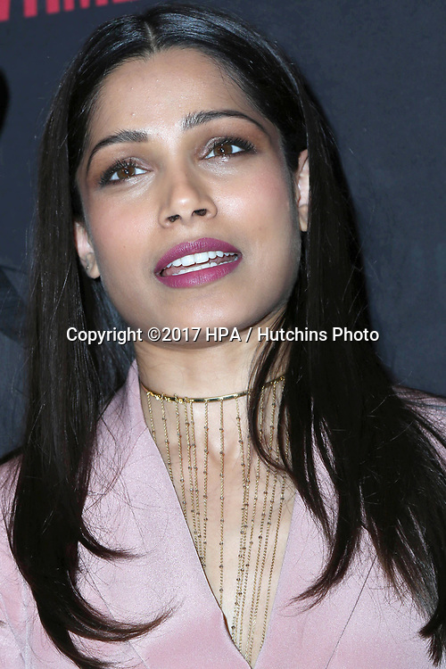 """LOS ANGELES - APR 13:  Freida Pinto at the """"Guerrilla"""" FYC Event at the Writer's Guild of America Theater on April 13, 2017 in Beverly Hills, CA"""
